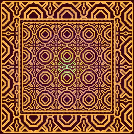 Creative patchwork geometric pattern. Vector illustration. Illustration