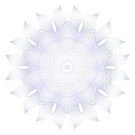 Beautiful Round Flower Mandala. For Design, Greeting Card, Invitation, Coloring Book. Arabic, Indian, Motifs Reklamní fotografie - 133589355