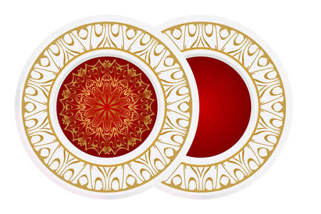 floral ornament plate for wall desight. vector illustration. Ilustracja
