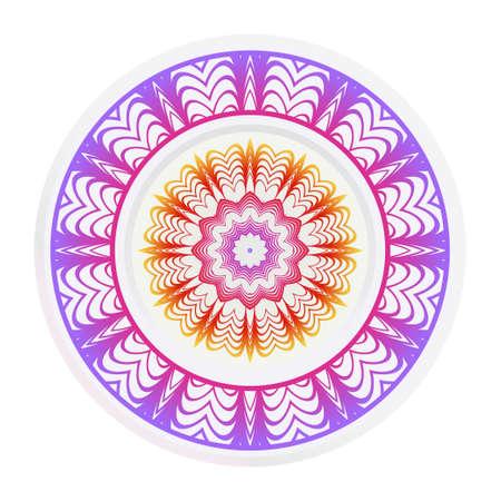 relaxing decorative symbol. vector illustration. abstract fashion circle.
