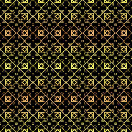 Luxury seamless Lace Geometric Ornament. Vector illustration. Black, gold color.