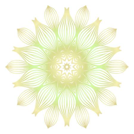 Light color mandala ornamnet. Spring decoration. Vector illustration. 일러스트