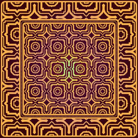 Creative patchwork geometric pattern. Vector illustration. Illusztráció