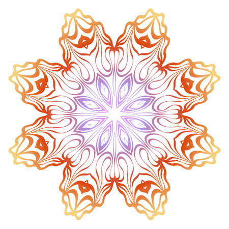 Floral mandala ornament. Vector illustration. Holiday decoration. Illusztráció