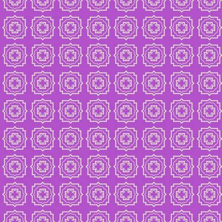 Seamless geometric pattern. Vector illustration. Purple white color.