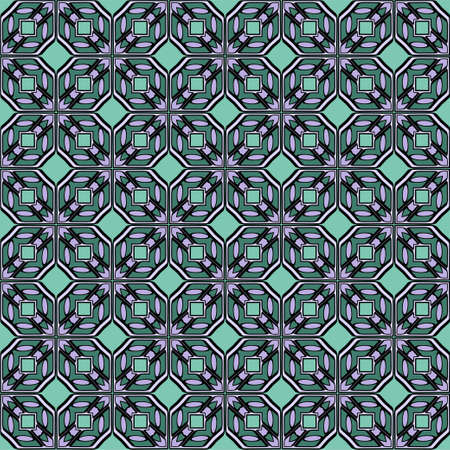 Color decorative seamless pattern with geometric ornamnet. Vector illustration.