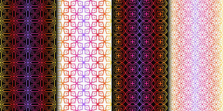 Set of Geometric Pattern. Seamless Texture Color Background. Vector illustration