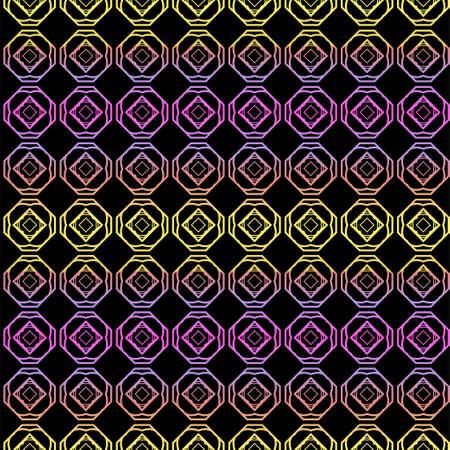 Color seamless geometric pattern with dark background. Vector illustration. Illusztráció