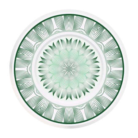 Creative round border and floral mandala ornament. Vector illustration. Illusztráció
