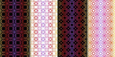 Set of Seamless Geometrical Linear Texture. Original Geometrical Puzzle. Backdrop. Vector illustration Illusztráció