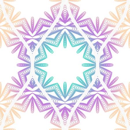 Seamless decorative pattern with floral decoration. Vector illustration. Illusztráció