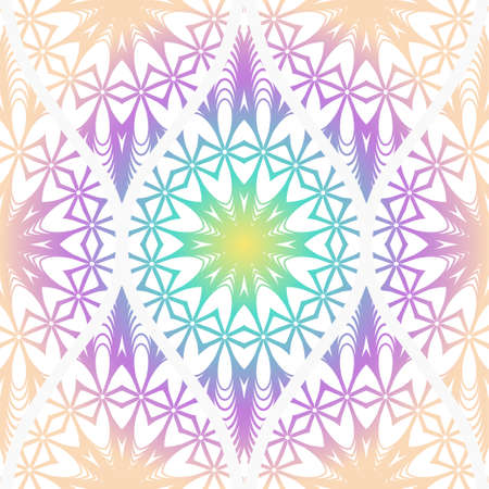 Seamless decorative pattern with floral decoration. Vector illustration. Ilustração