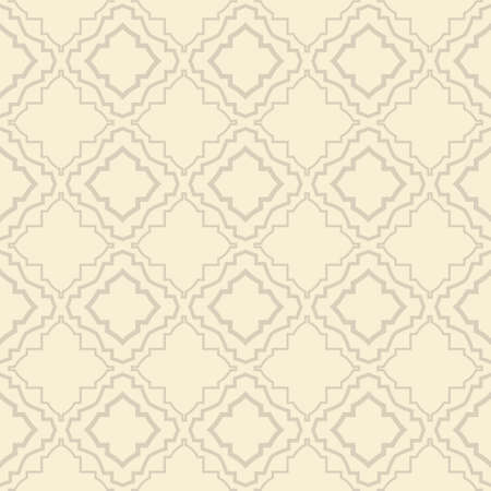 Vector Illustration. Seamless Pattern With Ornament, Decorative Border. Design For Print Fabric, Wallpaper, Interior deocoration. Ilustração