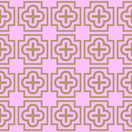 Seamless geometric pattern with modern decorative ornament. Vector illustration.