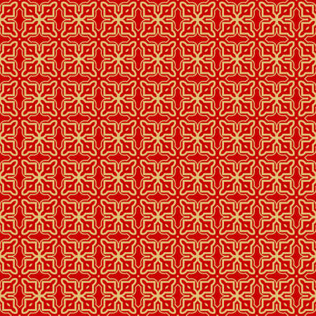 Repeating Geometric Pattern with Triangle, Zig Zag. Vector Background, Texture. For Design Invitation, Interior Wallpaper, Cover Card, Technologic Design. rED GOLD COLOR Ilustração