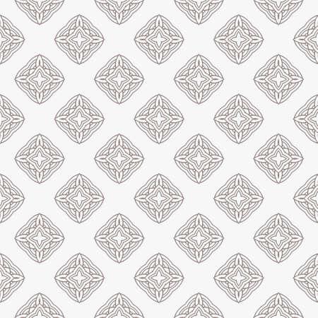 Geometric Pattern. Seamless Texture Grey Color Background. Vector illustration. Ilustração