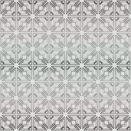 Abstract Vector Seamless Pattern With Abstract Geometric Style. Repeating Sample Figure And Line. Grey, green color.