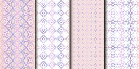 Set of 4 seamless geometric pattern. vector illustration. Reklamní fotografie - 133713447
