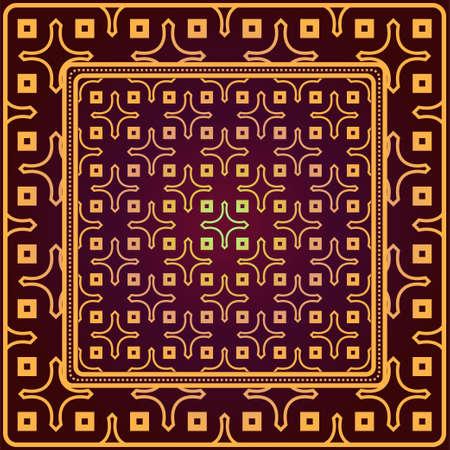 Creative patchwork geometric pattern. Vector illustration. 矢量图像
