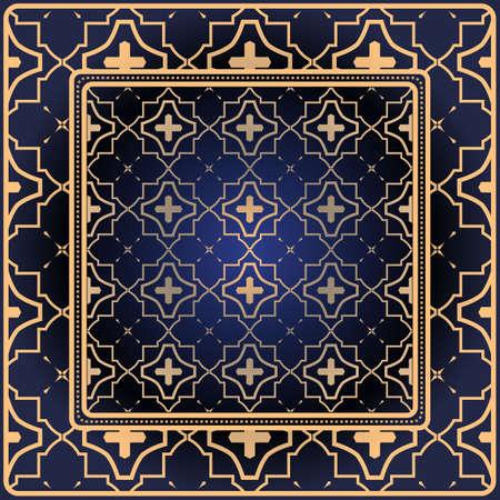 Decorative print with geometric pattern. Vector illustration.