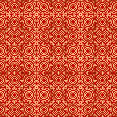 Modern Stylish Geometry Seamless Pattern Art Deco Background. Luxury Texture For Wallpaper, Invitation. Vector Illustration. Red gold color. Ilustração