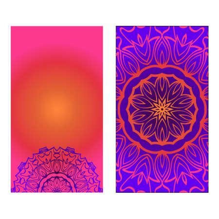 Decorative invitation template with mandala decoration. Vector illustration. Reklamní fotografie - 133714346