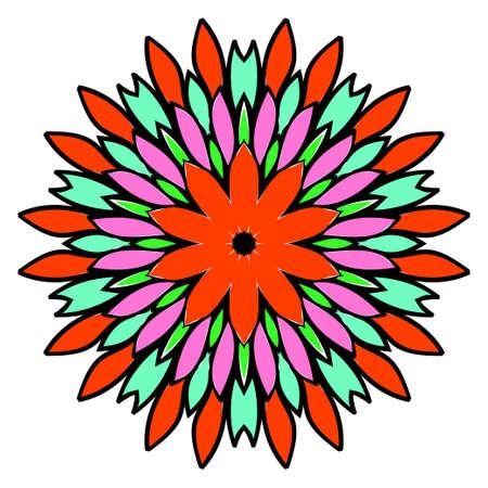 Floral color mandala. Vector illustration. Decorative ornament.