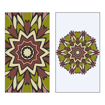 Vintage Card With Patterns Of The Mandala. Floral Ornaments. Islam, Arabic, Indian, Ottoman Motifs. Template For Flyer Or Invitation Card Design. Vector Illustration. Standard-Bild - 133967820