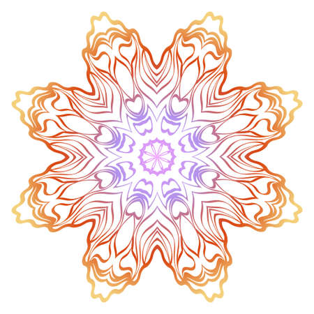 Floral mandala ornament. Vector illustration. Holiday decoration. Ilustrace