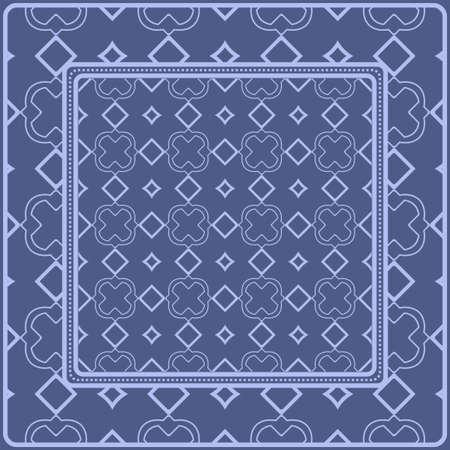 Motif décoratif pour impression de mode. Exemple de conception de nappe ou de bandana. Illustration vectorielle. Vecteurs