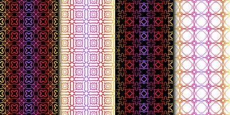 Set of Seamless Geometrical Linear Texture. Original Geometrical Puzzle. Backdrop. Vector illustration Reklamní fotografie - 133972086