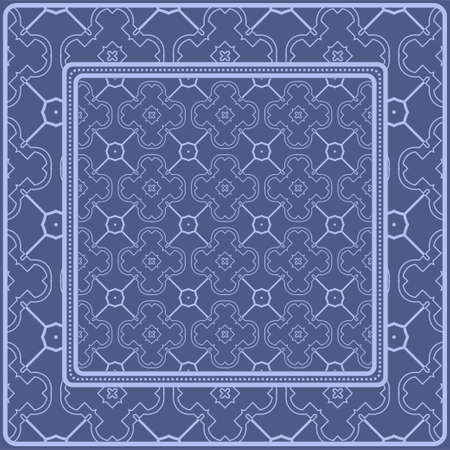 Decorative pattern for fashion print. Sample tablecloth or bandanna design. Vector illustration. Reklamní fotografie - 133972194