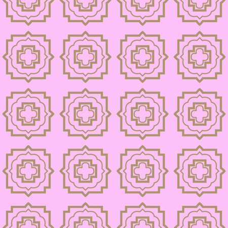 Seamless geometric pattern with modern decorative ornament. Vector illustration. Reklamní fotografie - 133972196