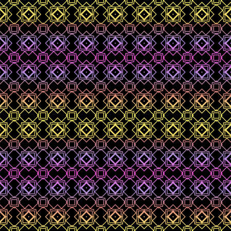 Color seamless geometric pattern with dark background. Vector illustration. Reklamní fotografie - 133972579