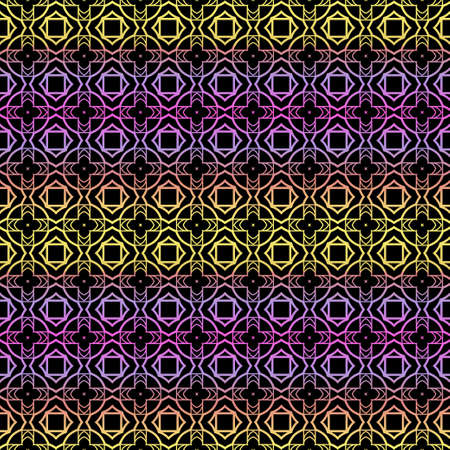 Color seamless geometric pattern with dark background. Vector illustration. Reklamní fotografie - 133972653