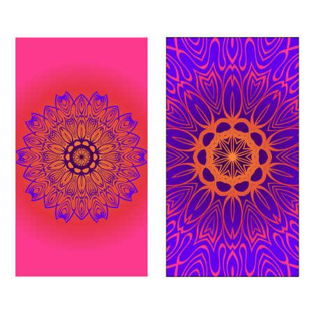 Decorative invitation template with mandala decoration. Vector illustration. Reklamní fotografie - 133972747
