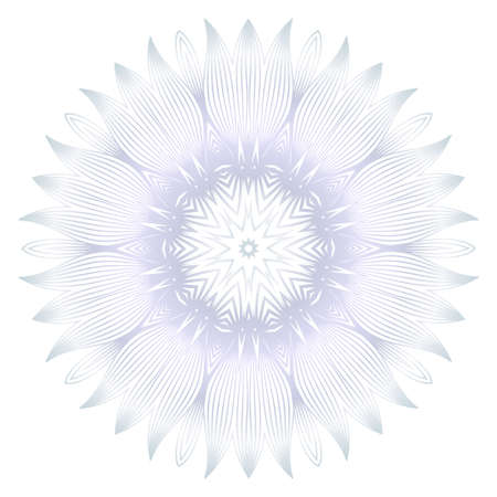 Beautiful Round Flower Mandala. For Design, Greeting Card, Invitation, Coloring Book. Arabic, Indian, Motifs