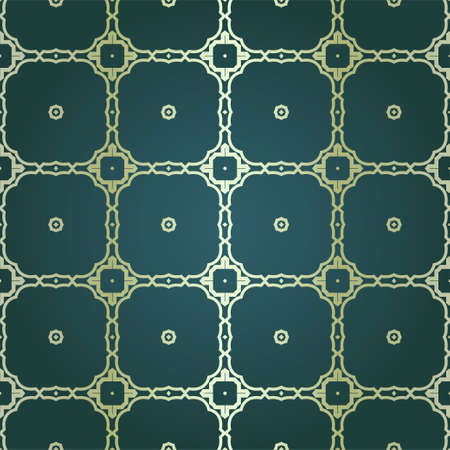 Art-deco vintage seamless geometric pattern. Vector illustration. Royald color. Reklamní fotografie - 133973026