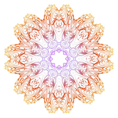 Floral mandala ornament. Vector illustration. Holiday decoration. Illustration
