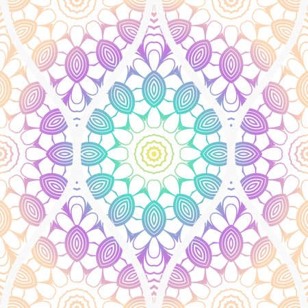 Seamless decorative pattern with floral decoration. Vector illustration. Ilustrace