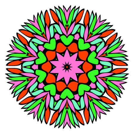 Floral color mandala. Vector illustration. Decorative ornament.