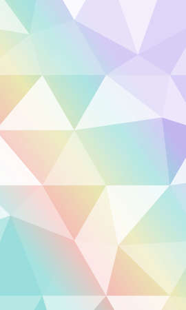 Beautiful polygonal background with gradient color. Vector illustration
