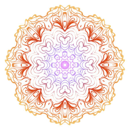 Floral mandala ornament. Vector illustration. Holiday decoration.  イラスト・ベクター素材