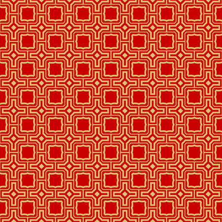 Repeating Geometric Pattern with Triangle, Zig Zag. Vector Background, Texture. For Design Invitation, Interior Wallpaper, Cover Card, Technologic Design. rED GOLD COLOR  イラスト・ベクター素材