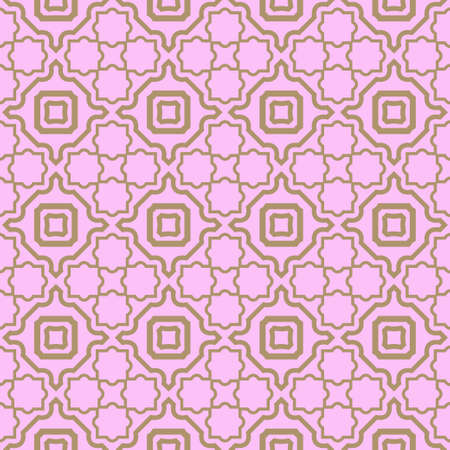 Seamless geometric pattern with modern decorative ornament. Vector illustration.