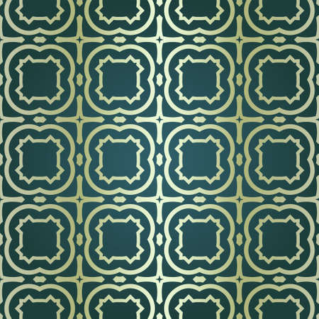 Art-deco vintage seamless geometric pattern. Vector illustration. Royald color.