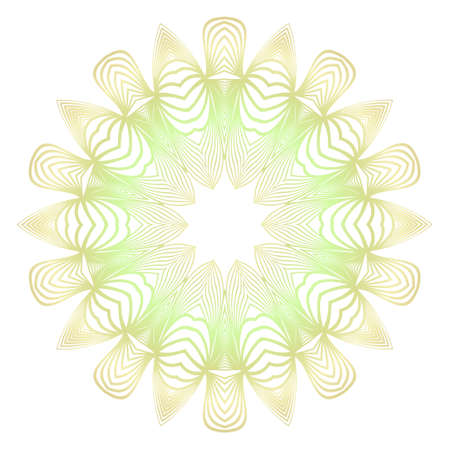 Light color mandala ornamnet. Spring decoration. Vector illustration.  イラスト・ベクター素材