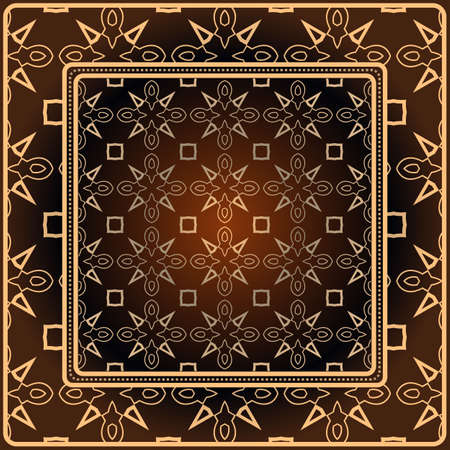 Decorative print with geometric pattern. Vector illustration.
