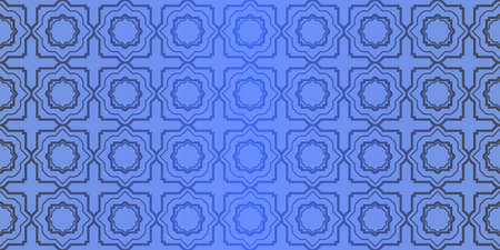 Seamless geometric pattern with decorative art-deco modern ornamnet. Vector illustration.