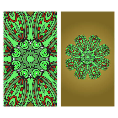 Vector Mandala Pattern For Template, Flyer Or Invitation Card.